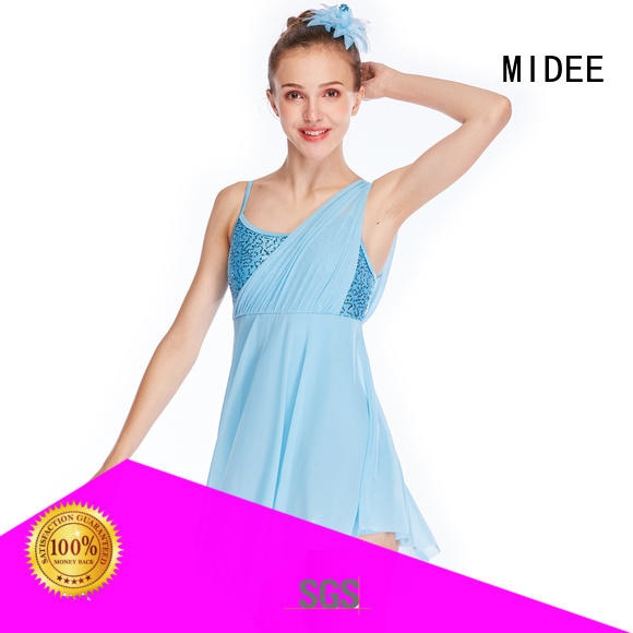 MIDEE tank lyrical dance costumes for competition dance clothes show