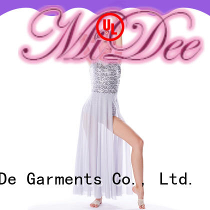 sequined kids lyrical costume dance clothes stage MIDEE