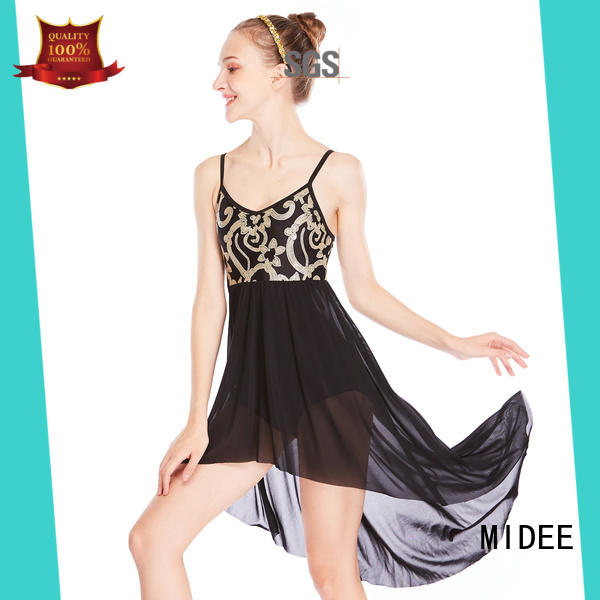 OEM two piece lyrical dance costumes pieces custom stage
