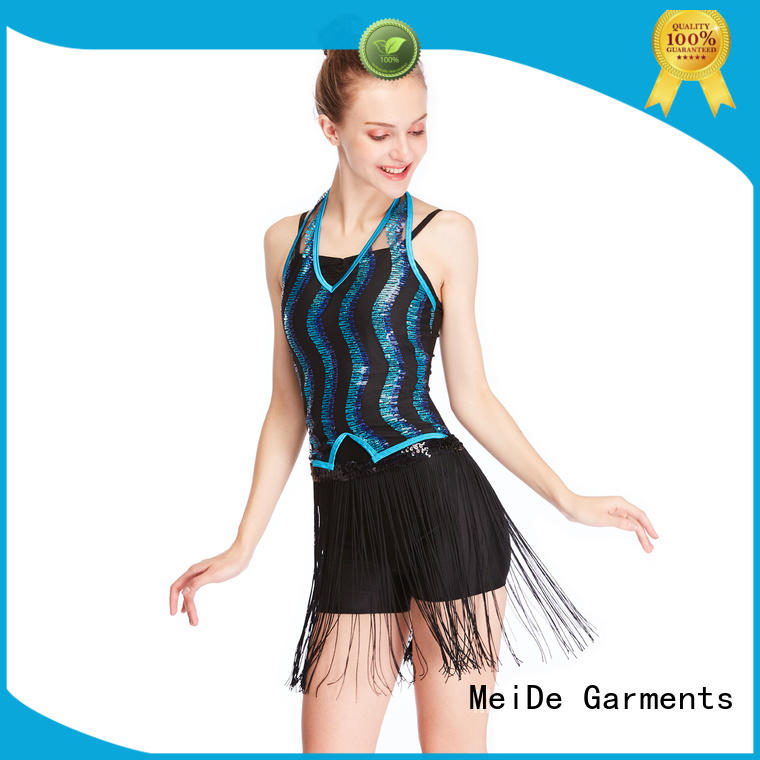 odm jazz clothing fringed for wholesale dance school