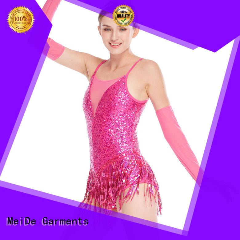 professional dress dance costumes jazz neck customization competition
