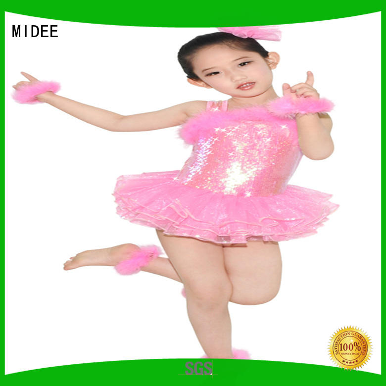 MIDEE sequined lyrical dance costumes for competition custom stage