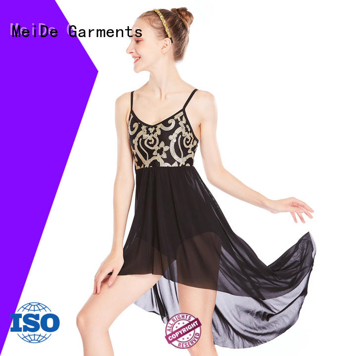 OEM lyrical solo costumes spirals dance clothes competition