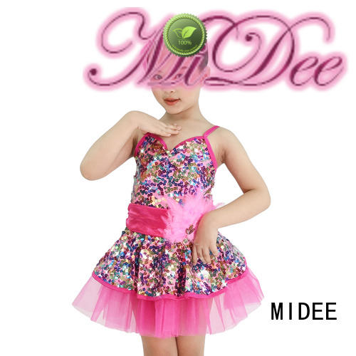 MIDEE shoulder ballet leotards for girls bulk production dance school