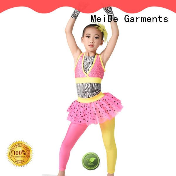 MIDEE velvet kids ballet outfit bulk production show