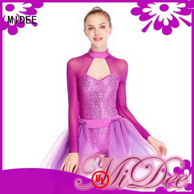 MIDEE anti-wear ballet dresses for adults sleeves performance