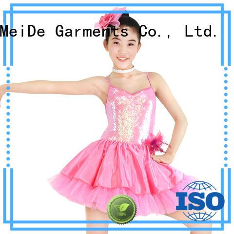 adjustable girls ballet costume velvet odm competition
