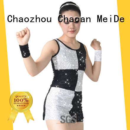 MIDEE professional dress jazz dance costumes for girls fringed competition