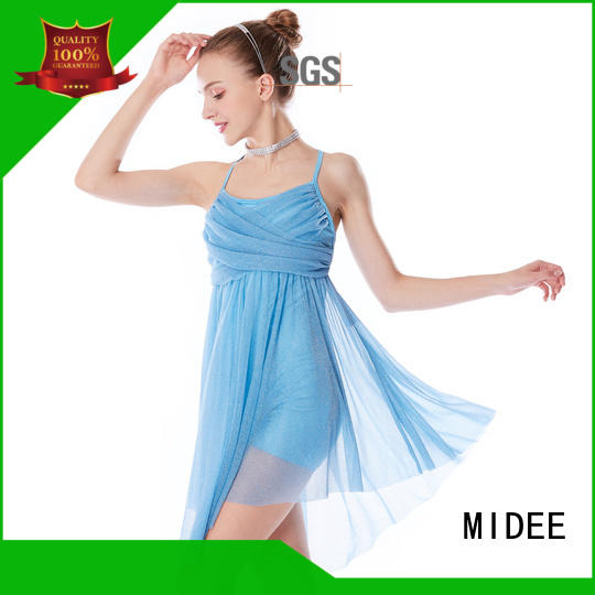 MIDEE oneshoulder custom lyrical dance costumes dance clothes competition