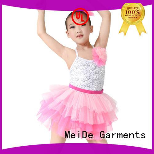 MIDEE anti-wear ballet leotards for girls waistband dance school
