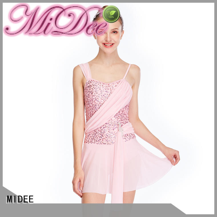 MIDEE customization two piece lyrical dance costumes custom performance