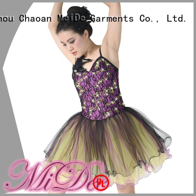 MIDEE adjustable ballet dresses for girl bulk production dancer