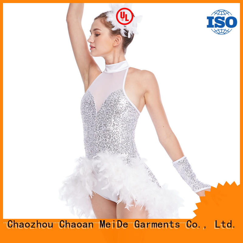 MIDEE white jazz dance outfits for wholesale show