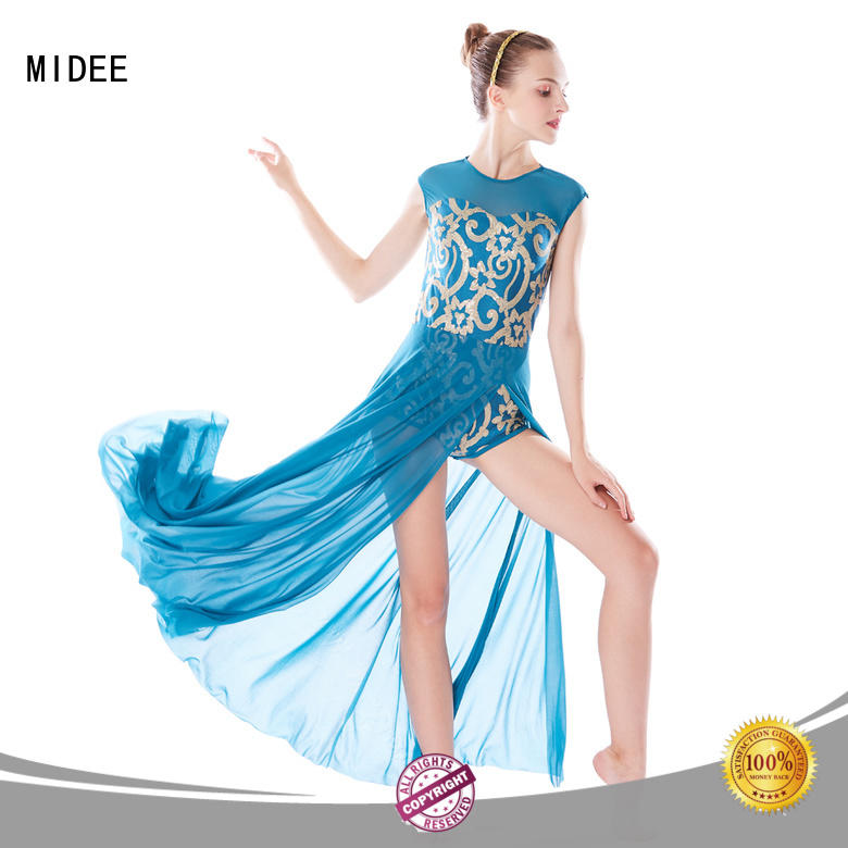customization lyrical dance dresses pleated custom competition