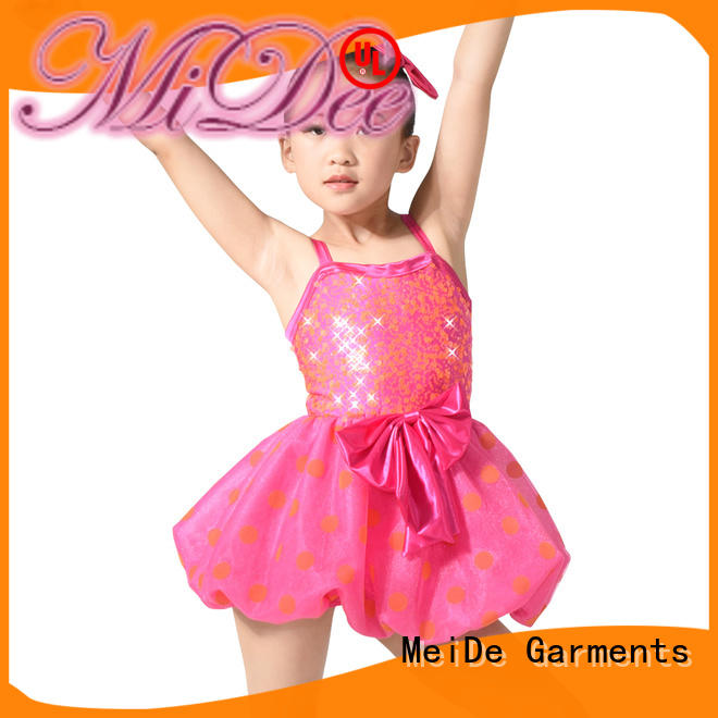 costume toddler ballet leotard with skirt factory price show MIDEE