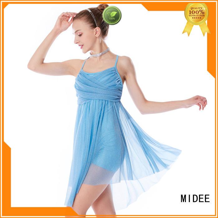 MIDEE OEM 2 piece lyrical dance costumes custom stage