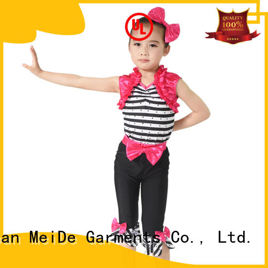 MIDEE white dance costumes jazz for wholesale competition