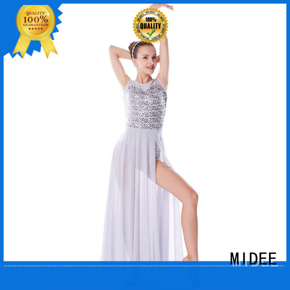 MIDEE cut lyrical dance costumes for competition dance clothes performance